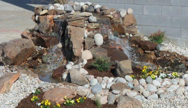 Beautiful waterfall made of rocks