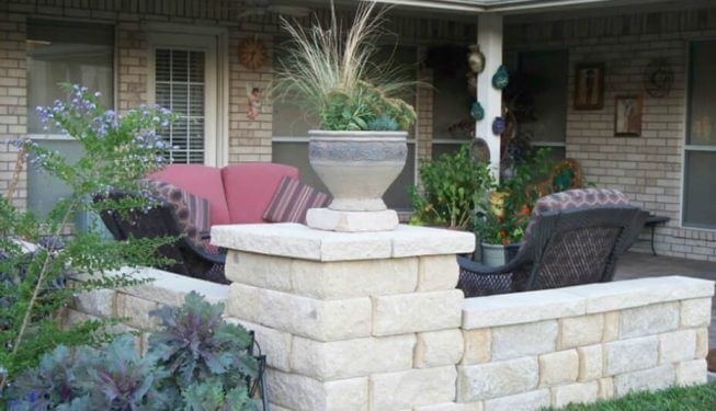 Retaining wall for back yard patio