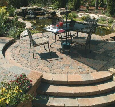 Cozy patio with center focus