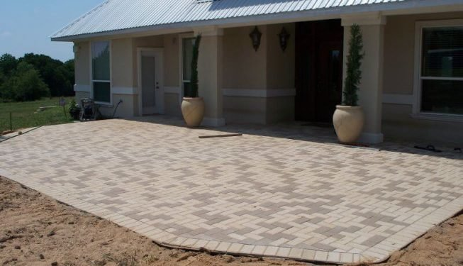 Large brick patio