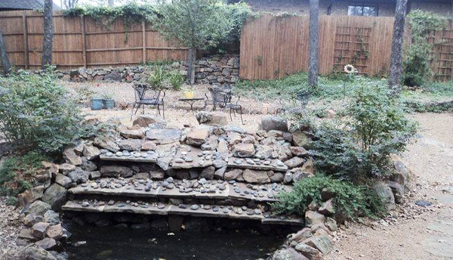 Beautiful Stone Waterfall - McGlinchey Home