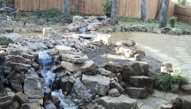 Beautiful Stone Waterfall - McGlinchey Home