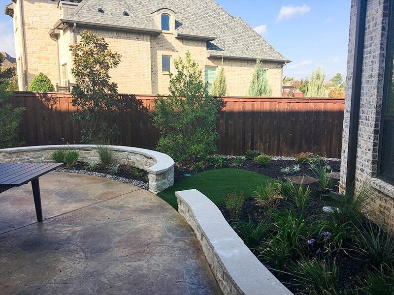 Stone Patio and Walkways - Bonham Home