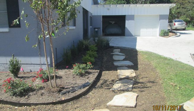 Front Yard and Back Yard Walkway - Pritchard Home