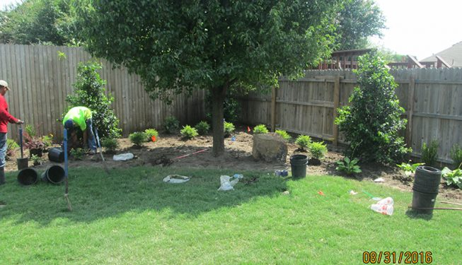 Backyard Landscaping with Patio